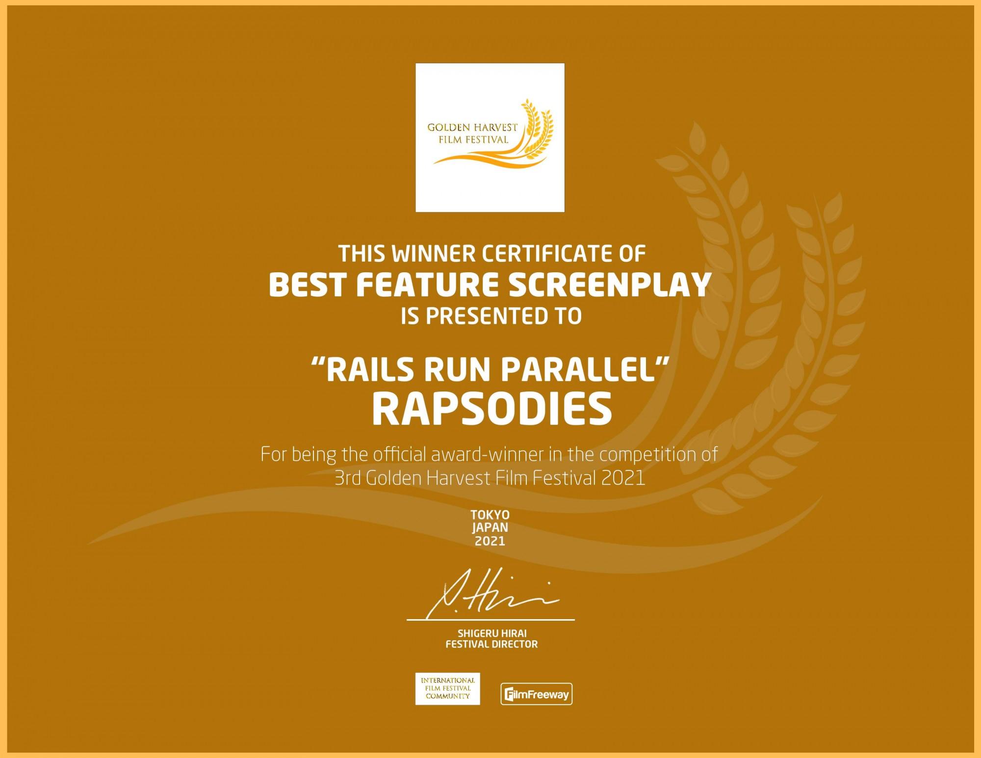 Rails Run Parallel - Best Feature Screenplay